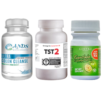 ANDS Colon Cleanse & TST 2 & Garcinia
